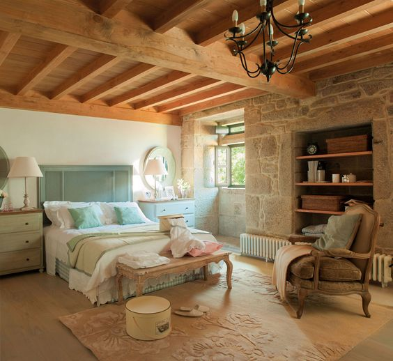 Habitaciones rústicas de piedra