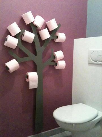 idea simpática para el baño