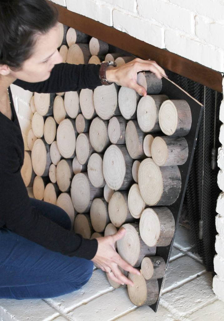 Cómo decorar la chimenea en verano DIY