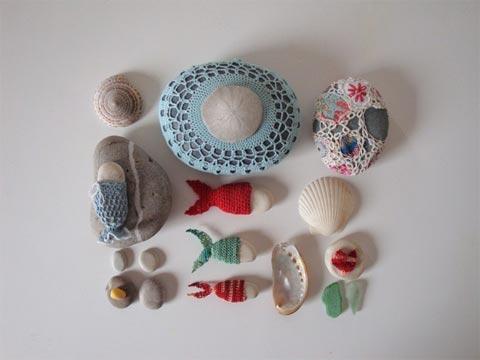 Ideas decorativas: piedras y crochet