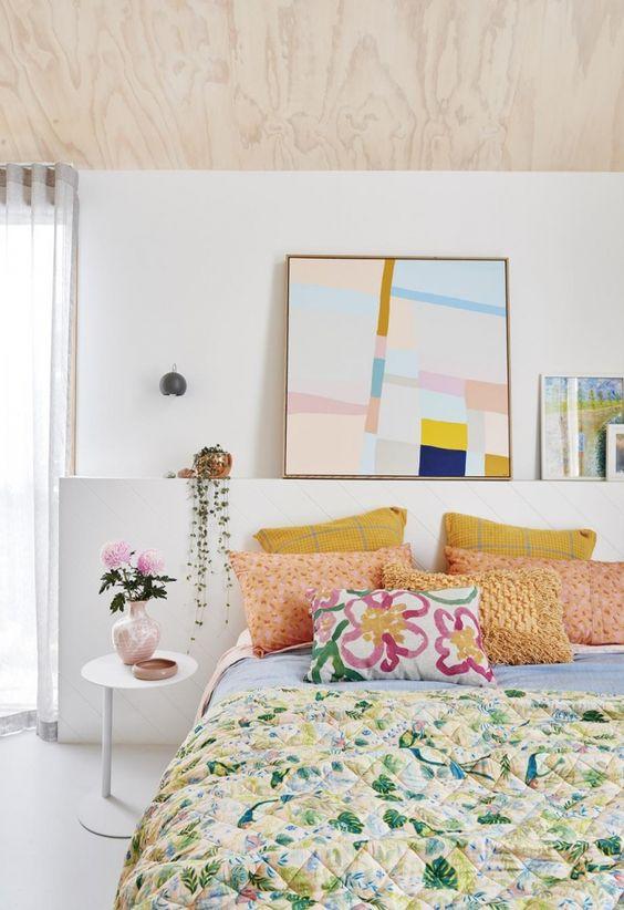 Crea ambiente con los textiles del dormitorio