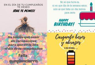 Imágenes para felicitar cumpleaños en cuarentena