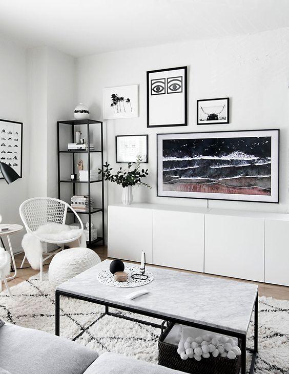 Integrar la televisión en la decoración
