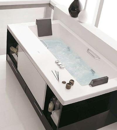 bañera con mueble