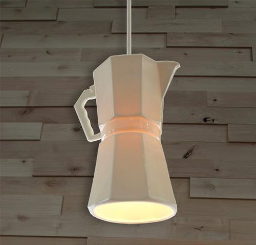 Lámparas originales: iluminación de una cafetería