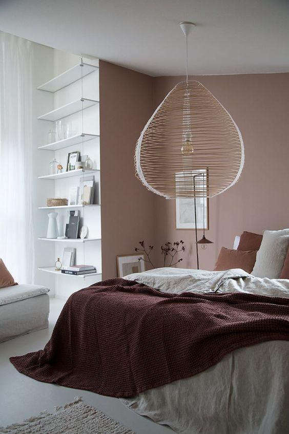 Lámparas de techo en el dormitorio