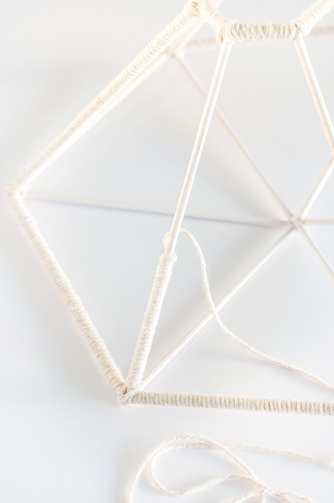 Lámpara geométrica DIY