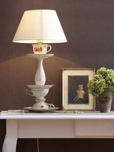 Lámpara de cerámica reciclada