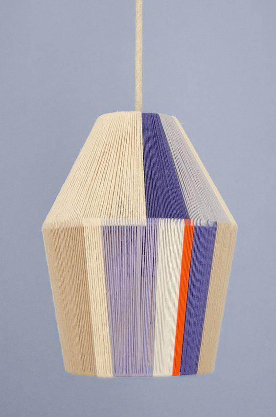 Lámpara de hilos DIY