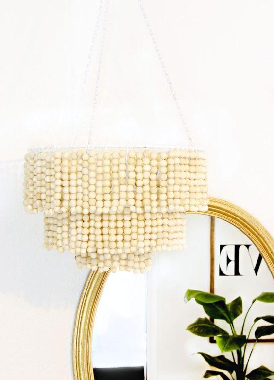 Lámpara de bolas DIY