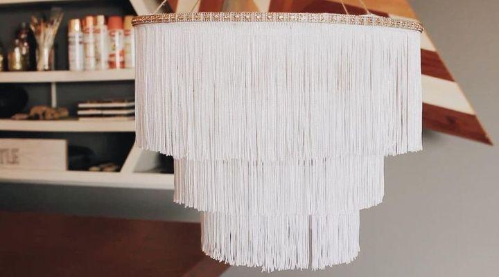 Lámpara flecos DIY