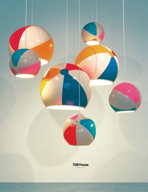 Lámparas originales: una pelota de playa