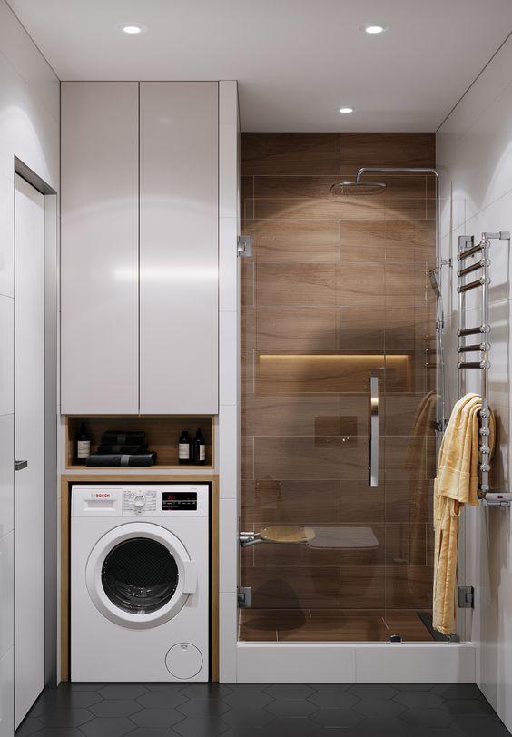 Disimular lavadora baño