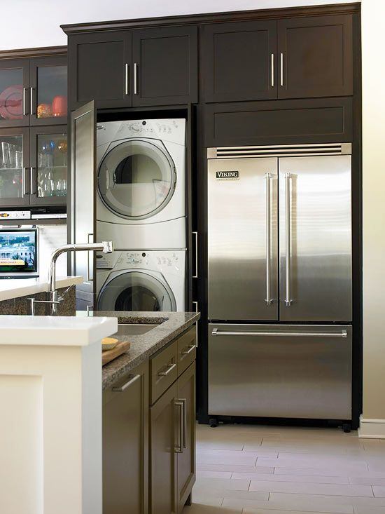 Lavadora en la cocina