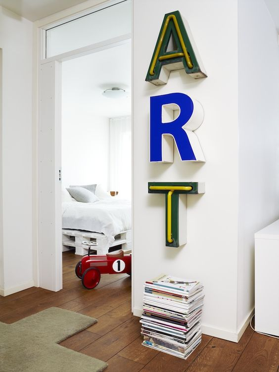 Letras corpóreas decoración
