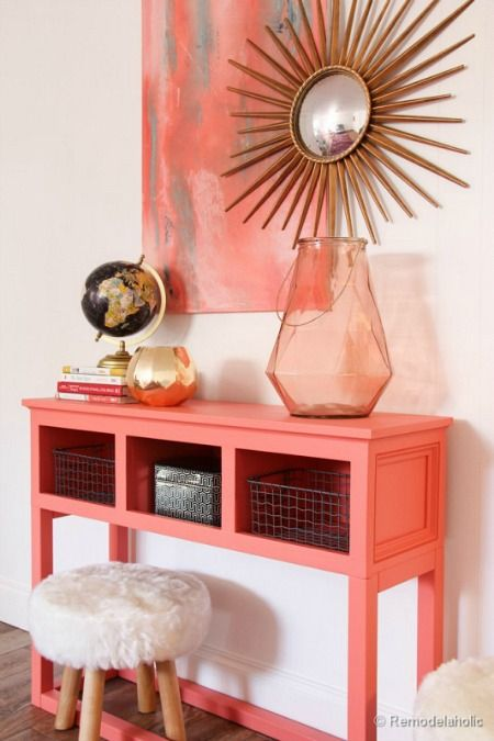 Decoración Living Coral
