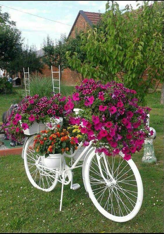 Macetas diferentes ideas maceteros originales reciclados - Bicicleta macetero ...