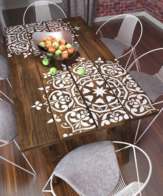 Muebles decorados con mandalas