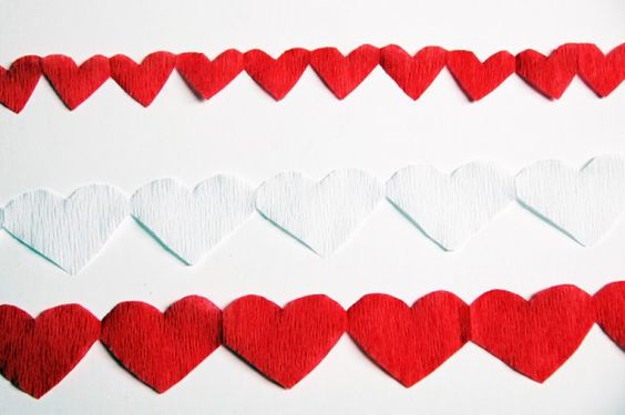 Manualidades con papel de seda para San Valentín