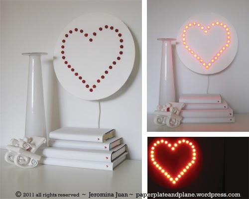 Lámpara para San Valentin DIY