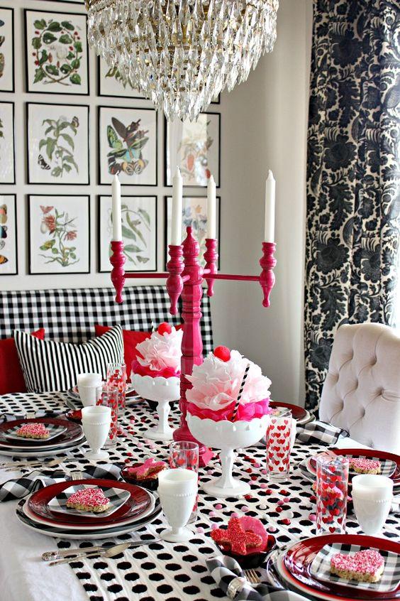 Mesa romántica San Valentín