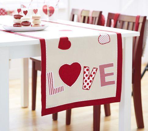 caminos de mesa San Valentín