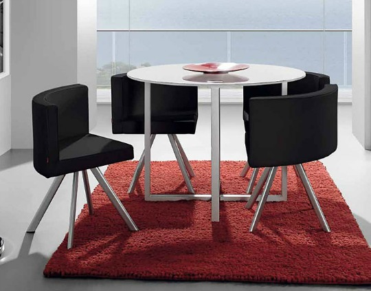 Mesa de comedor para apartamentos pequeños