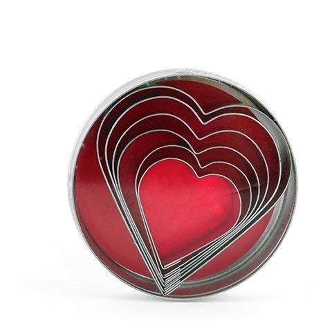 Moldes para galletas con forma de corazón