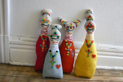 Muñecas de tela Frida