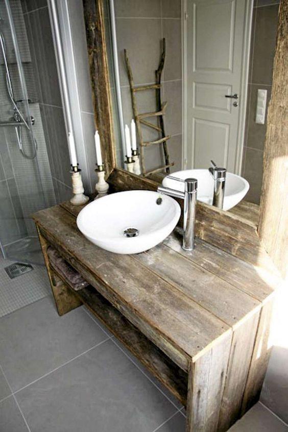 Más muebles de lavabo hechos con palets