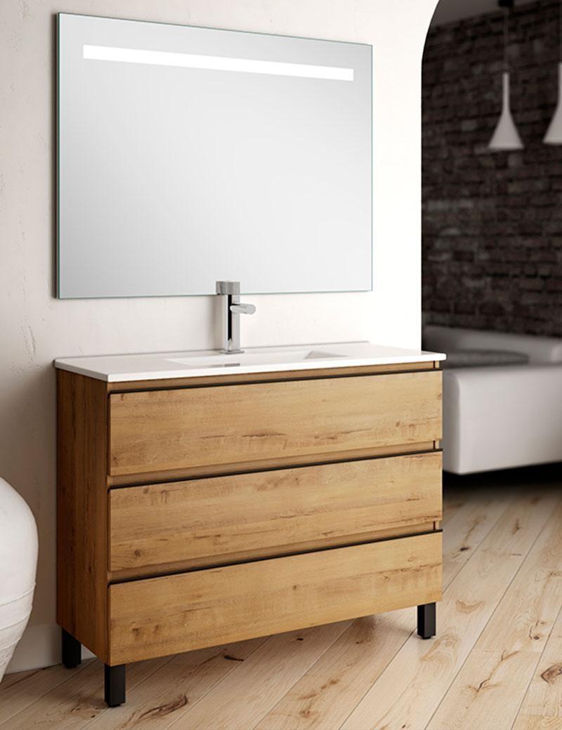 Mueble de baño suelo madera