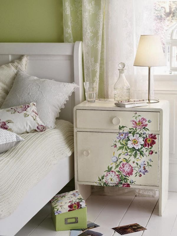 Muebles decorados con decoupage
