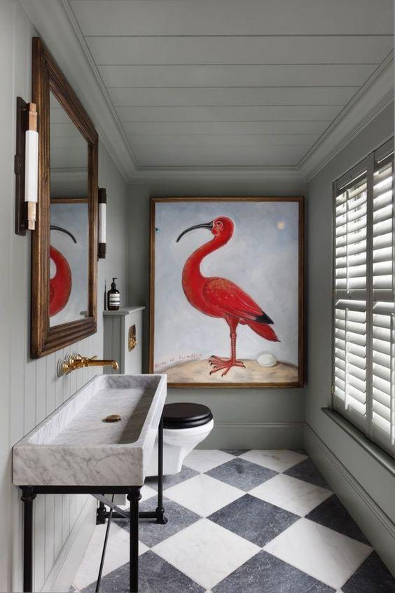 Obras de arte en el baño