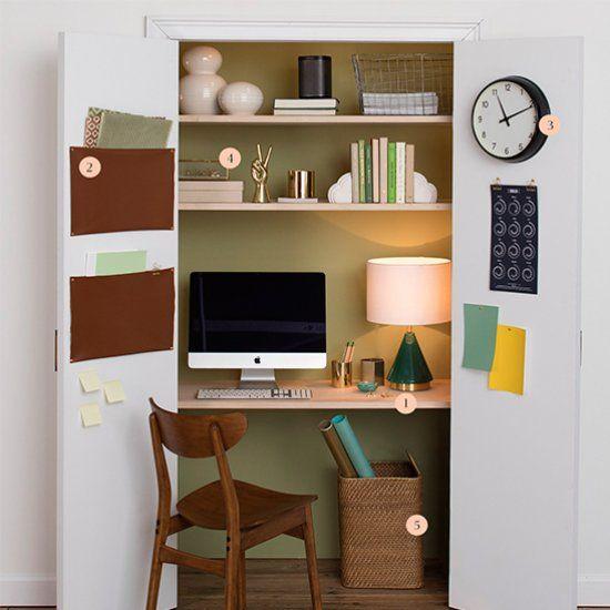 Zona de trabajo dentro del armario