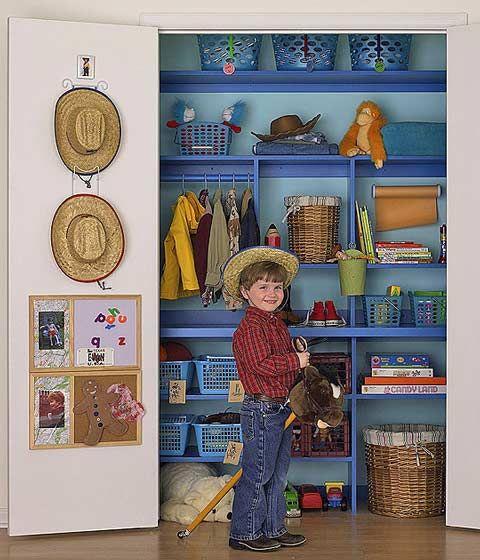 Organizando el armario de los niños