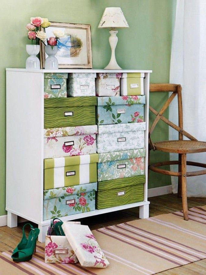 Organizar con cajas de cartón