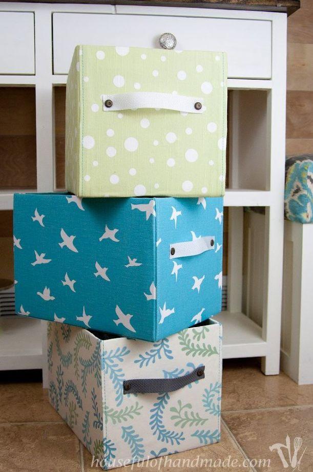 Cajas de cartón decoradas paso a paso