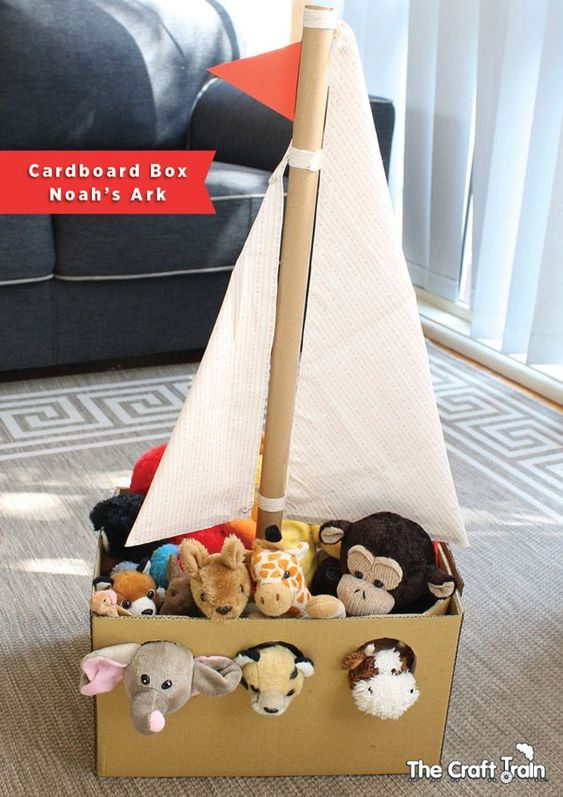 Organizar los juguetes de los peques con cajas de cartón