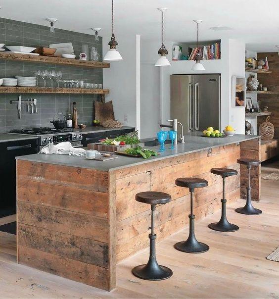 Cocinas con islas de palets