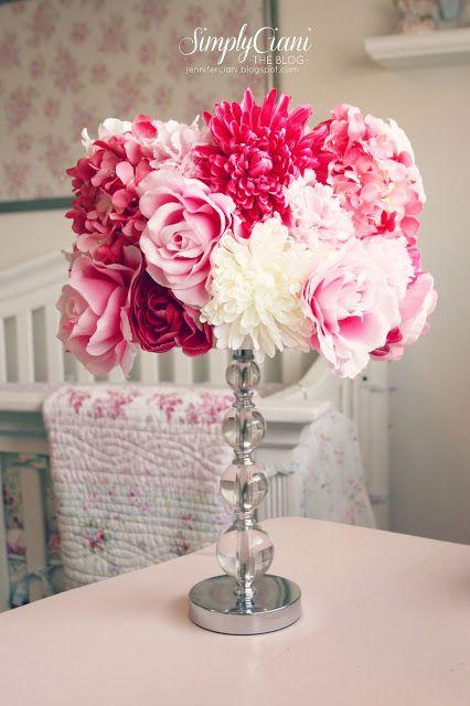 Pantallas decoradas con flores DIY