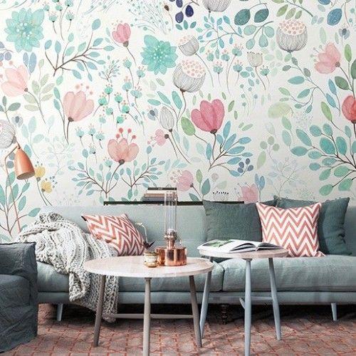 Salones decorados con papel pintado