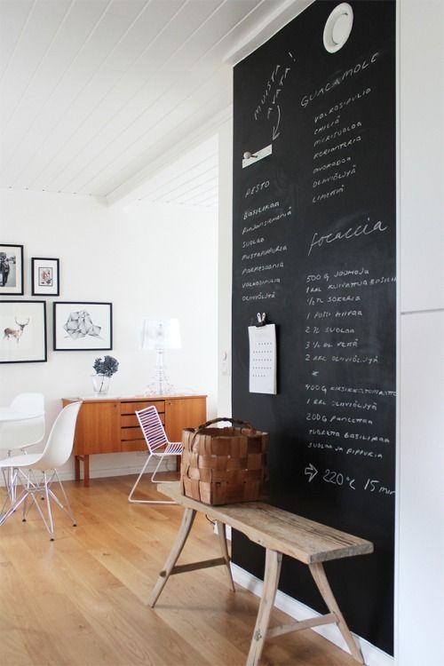 Pintar paredes con pintura pizarra