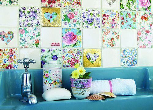 una forma diferente de decorar con azulejos