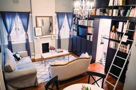 Un peque o apartameto muy elegante for Como organizar un apartamento pequeno