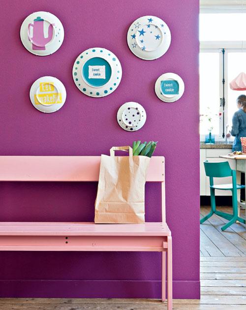 Paredes decoradas con platos for Diy decoracion casa