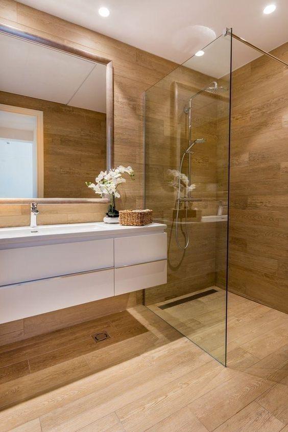 Porcelánico madera baños