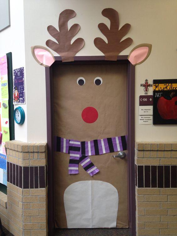 Ideas Para Decorar Puertas En Navidad.Inspiracion Para Decorar Puertas De Navidad 20 Fotos
