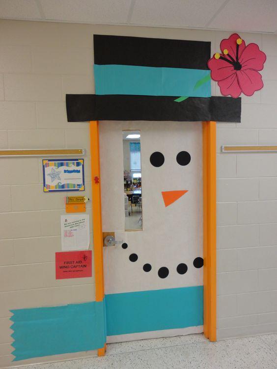 Decorar puertas de Navidad colegio