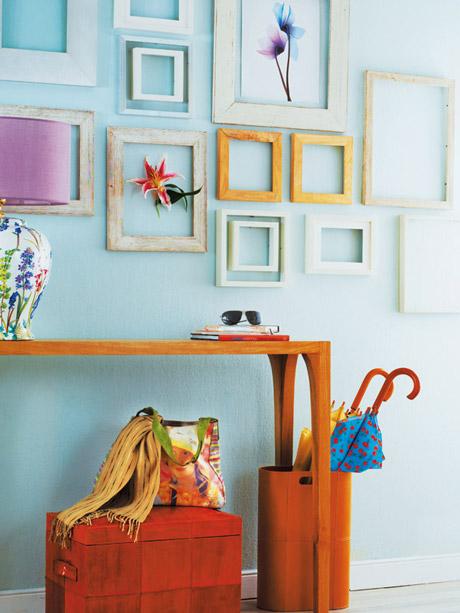 Recibidores decorados en azul