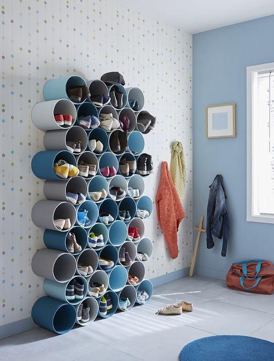 hallways with shoe rack 10